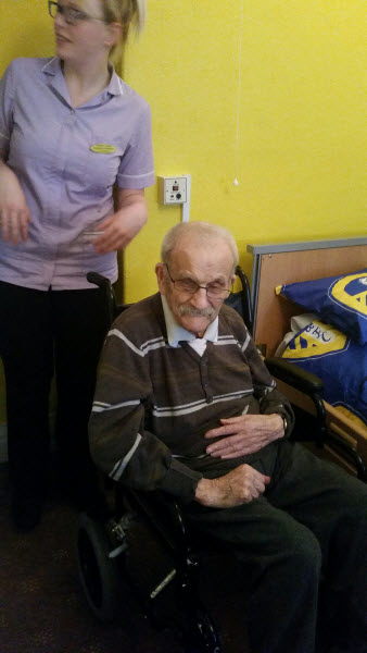 Leeds United Fan and Bridlington Lodge Resident Idris